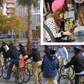 A punt per circular en bicicleta