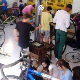Taller pràctic a Biciclot