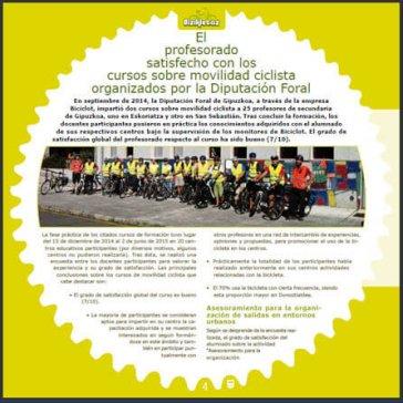 Continuitat dels cursos fets a Guipúzcoa