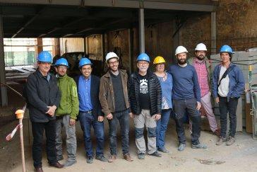 Pisarello visita la primera fase de les obres de Can Picó