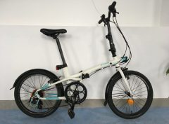 Bici plegable Btwin Blanca