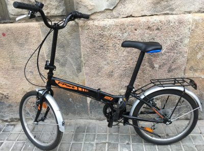 Bici plegable Folding F Park negra